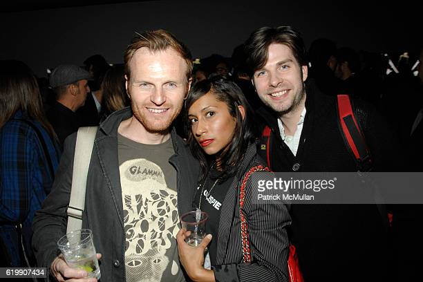 Nils Friedman Takiya and Jeremy Nelson attend A MILK GALLERY PROJECT Presents TRANSIT by ALEXI LUBOMIRSKI at Milk Gallery on October 21 2008 in New...