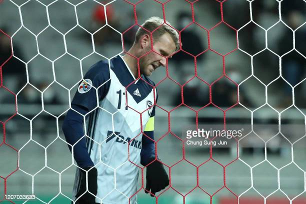 Nils Ola Toivonen of Melbourne Victory reacts during the AFC Champions League Group E match between FC Seoul and Melbourne Victory at the Seoul World...
