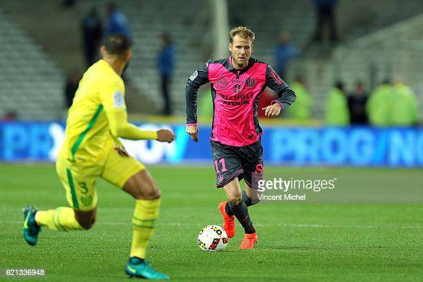 Nils Ola Toivonen of Toulouse during the Ligue 1 match between Fc Nantes and Toulouse Fc at Stade de la Beaujoire on November 5 2016 in Nantes France