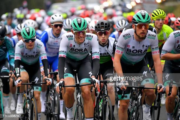 Nils Politt of German and Team Bora - Hansgrohe & Lukas Postlberger of Austria and Team Bora - Hansgrohe during the 51st Étoile de Bessèges - Tour du...