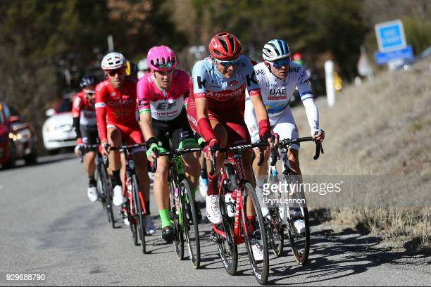Nils Politt of Germany and KatushaAlpecin / Alexander Kristoff of Norway and UAE Team Emirates / Tom Scully of New Zealand and EF Education...