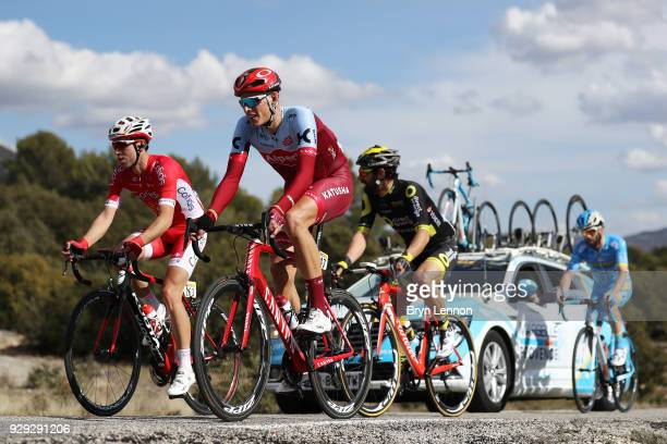 Nils Politt of Germany and KatushaAlpecin Nicolas Edet of France and Cofidis Solutions Credits Jerome Cousin of France and Direct Energie Julien El...