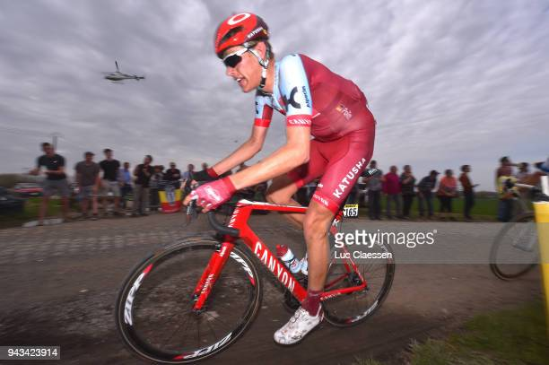 Nils Politt of Germany and Team Katusha Alpecin / during the 116th Paris Roubaix 2018 a 257km race from Compiegne to Roubaix on April 8 2018 in...