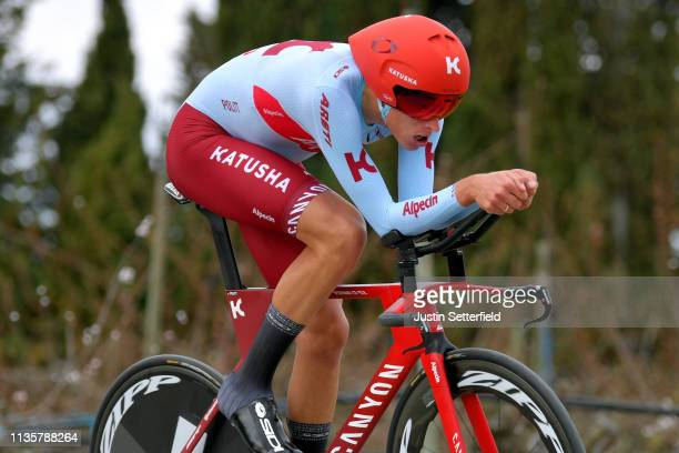 Nils Politt of Germany and Team Katusha Alpecin / during the 77th Paris - Nice 2019, Stage 5 a 25,5km Individual Time Trial stage from Barbentane to...