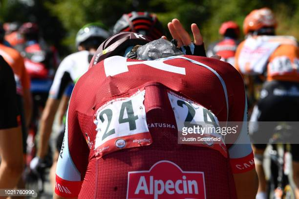 Nils Politt of Germany and Team Katusha - Alpecin / Ice cooling / Detail view / during the 33rd Deutschland Tour 2018, a 157km stage from Koblenz to...