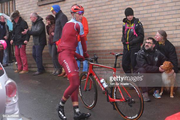 Nils Politt of Germany and Team Katusha Alpecin / Mechanical Problem / during the 102nd Tour of Flanders 2018 Ronde Van Vlaanderen a 2647km race from...