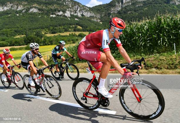 Nils Politt of Germany and Team Katusha / Simon Geschke of Germany and Team Sunweb / during the 105th Tour de France 2018 Stage 13 a 1695km stage...