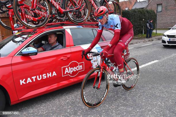 Nils Politt of Germany and Team KatushaAlpecin / during the 61st E3 Harelbeke 2018 a 2064km race from Harelbeke to Harelbeke on March 23 2018 in...