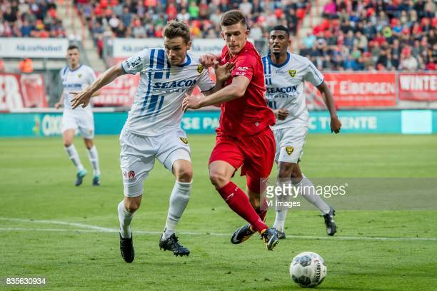 Nils Roseler of VVV Marko Kvasina of FC Twente during the Dutch Eredivisie match between FC Twente and VVV Venlo at the Grolsch Veste on August 19...