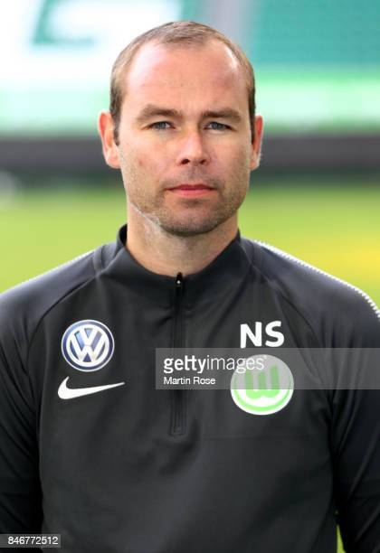 Nils Scholz of VfL Wolfsburg poses during the team presentation at on September 13 2017 in Wolfsburg Germany