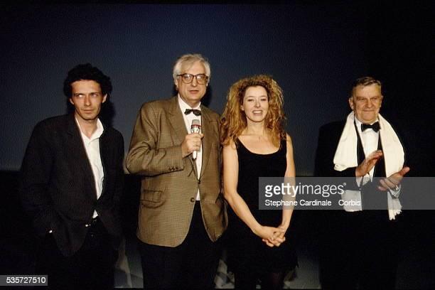 Nils Tavernier, Bertrand Tavernier et Charlotte Kady lors de la remise des prix.
