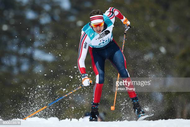NilsErik Ulset of Norway competes in the Men's 75 KM Biathlon event at Alpensia Biathlon Centre during day one of the PyeongChang 2018 Paralympic...