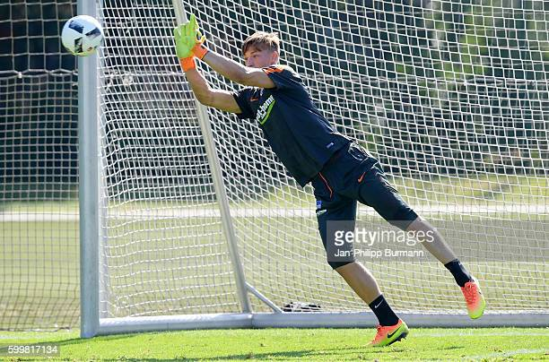 NilsJonathan Koerber of Hertha BSC during a training session on September 7 2016 in Berlin Germany