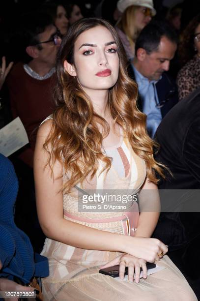 Nilufar Addati attends the Anteprima fashion show during the Milan Fashion Week Fall / Winter 2021 on February 20 2020 in Milan Italy