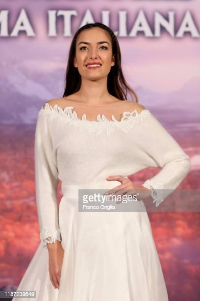Nilufar Addati attends the Frozen 2 Secrets Of Arendelle premiere on November 12 2019 in Rome Italy