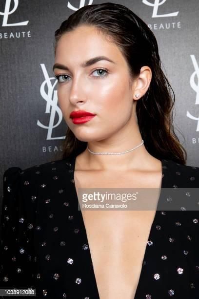 Nilufar Addati attends Ysl Beauty Club Milan during Milan Fashion Week Spring/Summer 2019 on September 23 2018 in Milan Italy