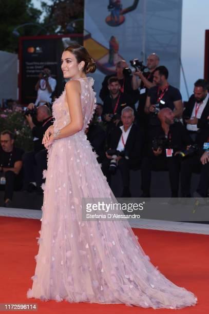 Nilufar Addati walks the red carpet ahead of the Gloria Mundi screening during the 76th Venice Film Festival at Sala Grande on September 05 2019 in...