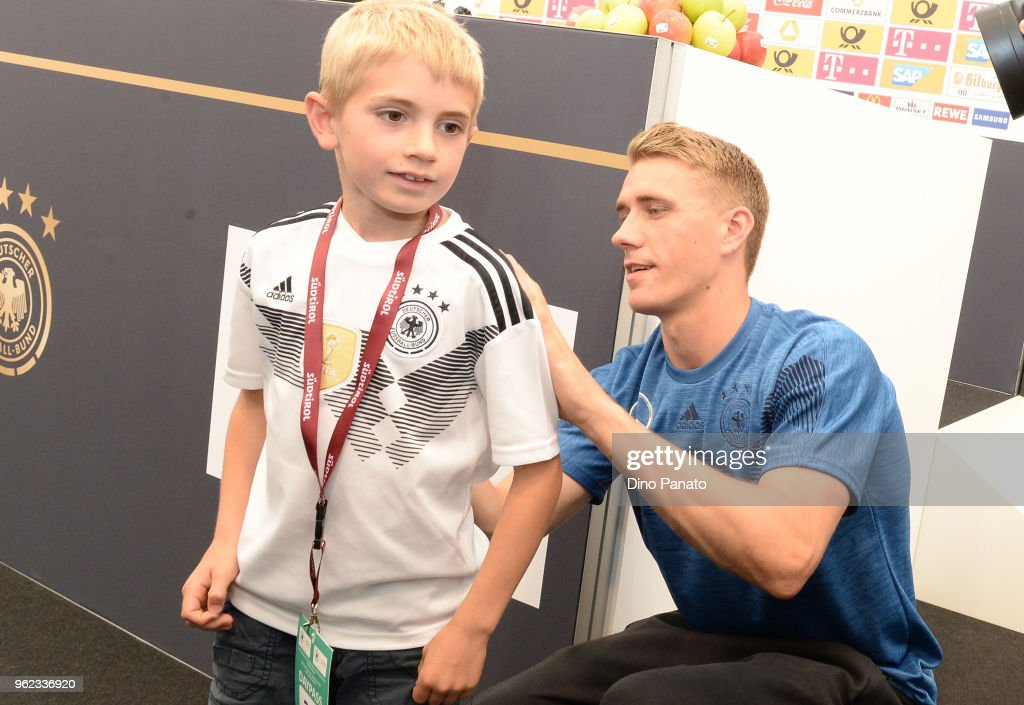 Nilus Peters of Germany during press confererence during the Southern Tyrol Training Camp day three at on May 25, 2018 in Bolzano, Italy.