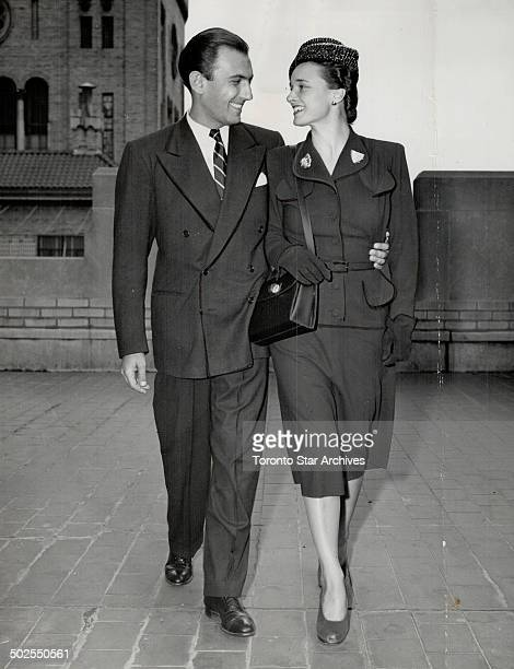Nimblefingered Eddy Duchin 38 and his fiancee 34yearold Mrs Maria Teresa Winn will be married tomorrow at the New York home of W Avereil Harriman US...
