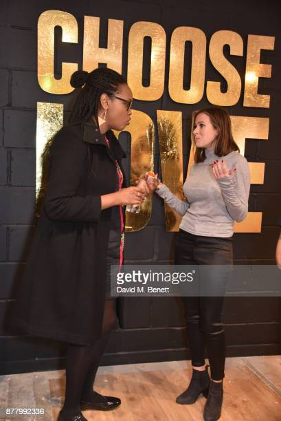 Nimco Ali and Camilla Thurlow attend the launch of the Help Refugees 'Choose Love' popup shop on November 23 2017 in London England