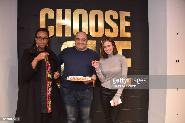 Nimco Ali Imad Alarnas and Camilla Thurlow attend the launch of the Help Refugees 'Choose Love' popup shop on November 23 2017 in London England
