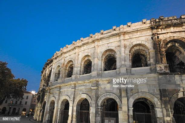 nimes arena - nimes stock pictures, royalty-free photos & images