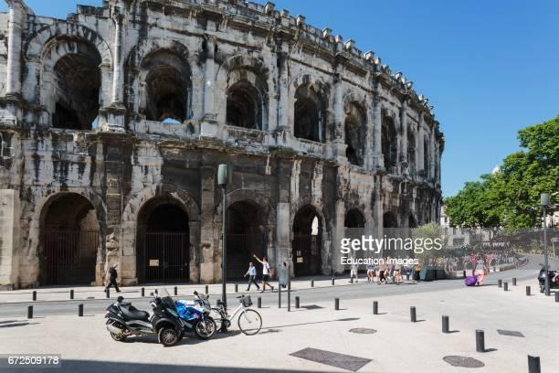 Nimes Gard Department LanguedocRoussillon France The Roman amphitheater