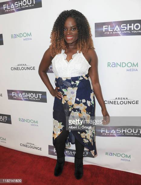 Nimi Adokiye arrives for the Premiere Of Flashout held at Arena Cinelounge on March 22 2019 in Hollywood California