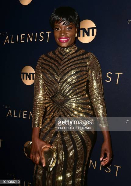 Nimi Adokiye arrives for the premiere of 'The Alienist' in Los Angeles on January 11 2018 / AFP PHOTO / FREDERIC J BROWN