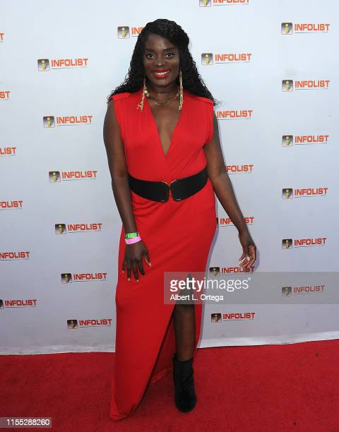 Nimi Adokiye attends InfoListcom's PreComicCon Bash held at Wisdome Immersive Art Park on July 11 2019 in Los Angeles California