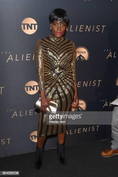 Nimi Adokiye attends Premiere Of TNT's The Alienist Arrivals on January 11 2018 in Los Angeles California