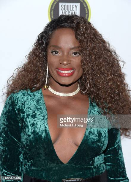 Nimi Adokiye attends the 4th annual Roger Neal Oscar Viewing Dinner Icon Awards and after party at Hollywood Palladium on February 24 2019 in Los...