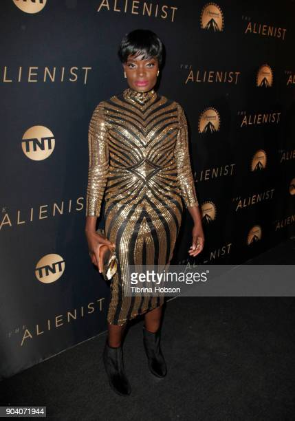 Nimi Adokiye attends the premiere of TNT's 'The Alienist' on January 11 2018 in Los Angeles California