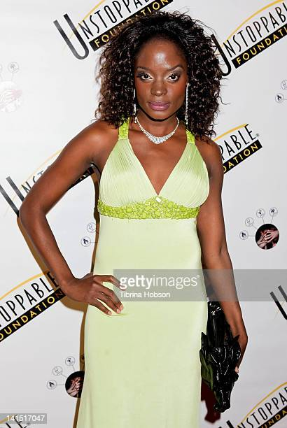 Nimi arrives to the 3rd annual Unstoppable Gala at Millennium Biltmore Hotel on March 17 2012 in Los Angeles California