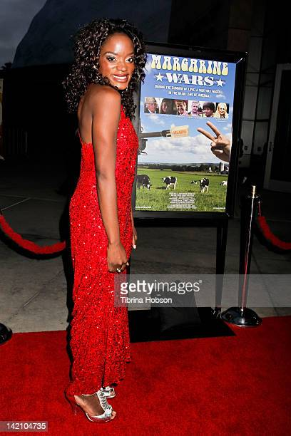 Nimi attends the 'Margarine Wars' Los Angeles premiere at ArcLight Hollywood on March 29 2012 in Hollywood California