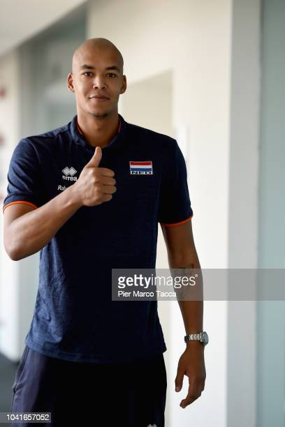 Gido Vermeulen Head Coach of the Dutch men volleyball team attends the Press Conference of the Men's Volleyball World Championships on September 20...