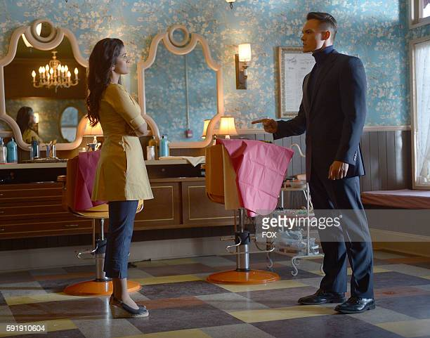 Nimrat Kaur and Tom Stevens in the Sound the Alarm episode of WAYWARD PINES airing Wednesday June 22 on FOX