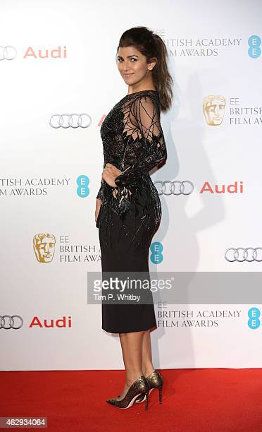Nimrat Kaur attends the EE British Academy Awards nominees party at Kensington Palace on February 7 2015 in London England