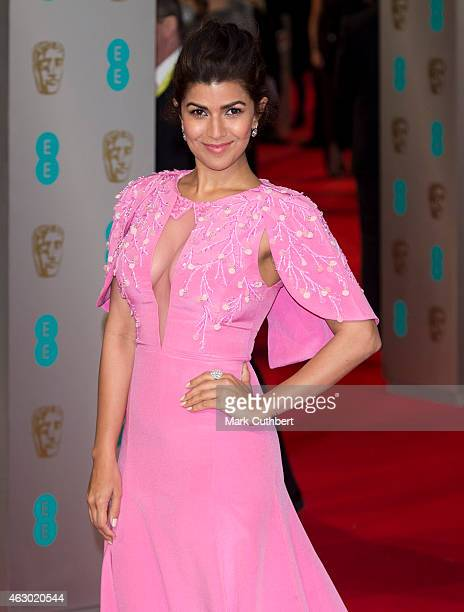Nimrat Kaur attends the EE British Academy Film Awards at The Royal Opera House on February 8 2015 in London England