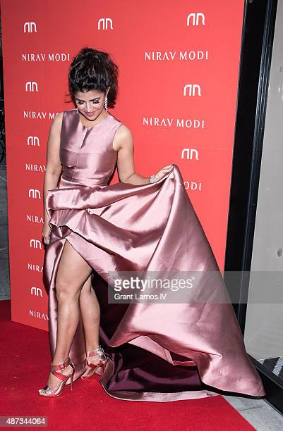Nimrat Kaur attends the Nirav Modi US boutique grand opening at Nirav Modi Boutique on September 8 2015 in New York City