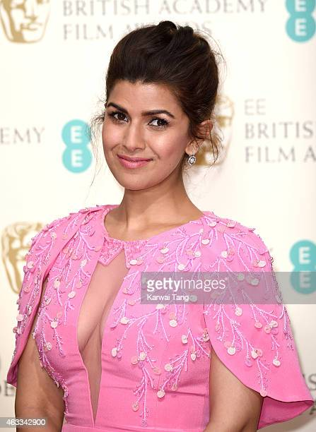 Nimrat Kaur poses in the winners room at the EE British Academy Film Awards at The Royal Opera House on February 8 2015 in London England