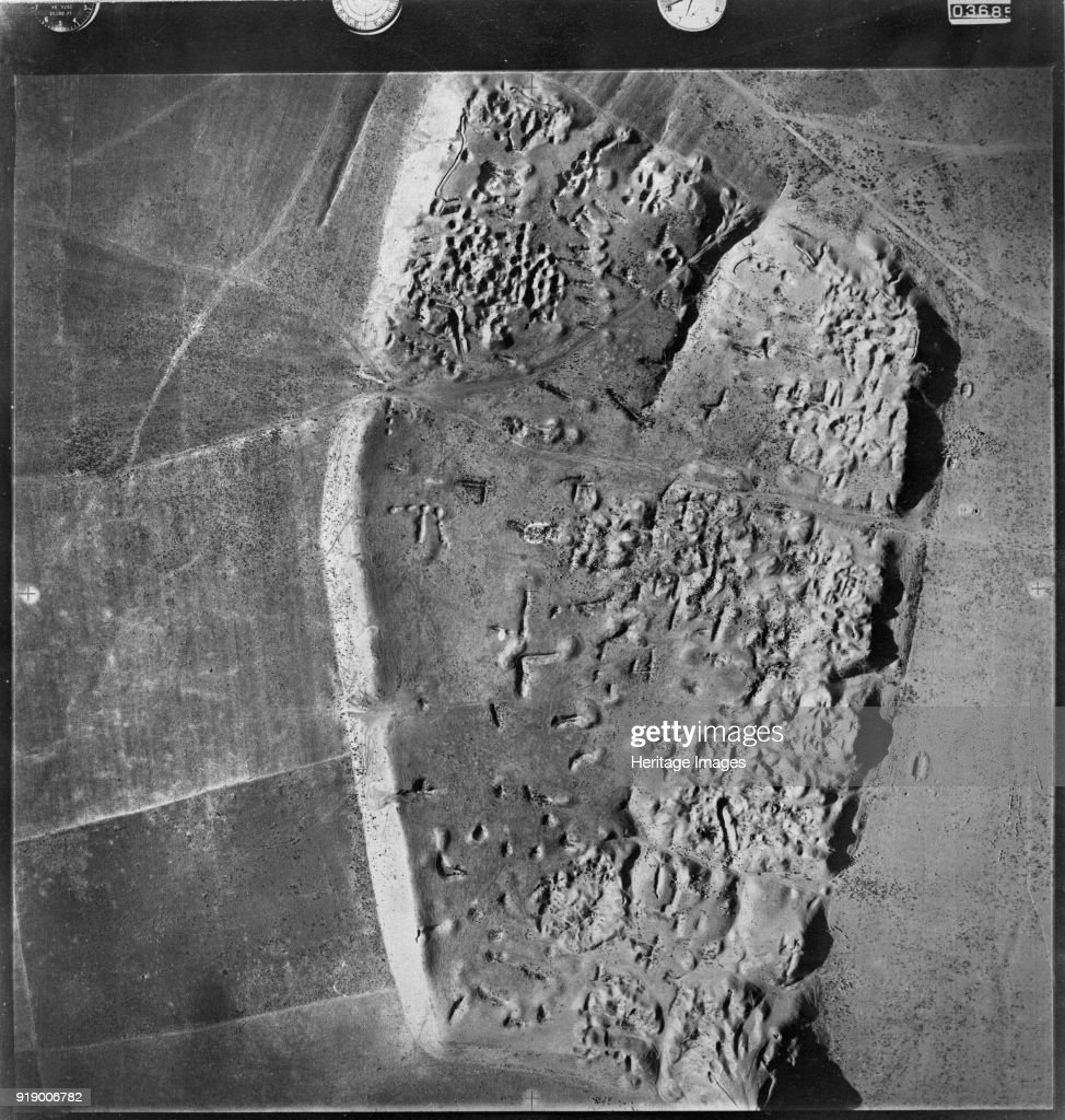 Vertical Aerial Photograph Of The Ancient Tell Near Noomanea Village Thought By