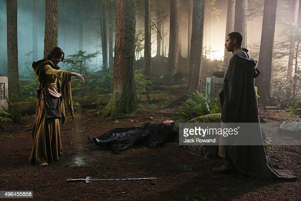 TIME Nimue In Camelot Merlin spearheads a mission to reunite the dagger with Excalibur so he can use the weapon to save Emma from the darkness...