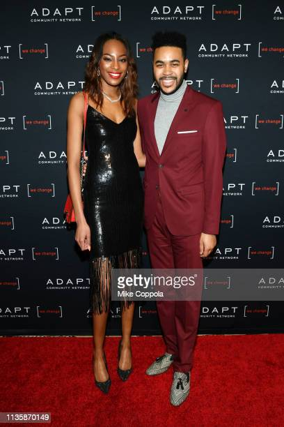 Nina Adams and Tony Bowles attend the 2019 2nd Annual ADAPT Leadership Awards at Cipriani 42nd Street on March 14 2019 in New York City