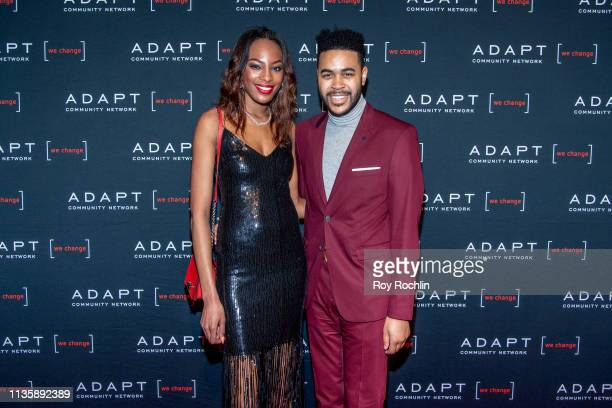 Nina Adams and Tony Bowles attend the 2019 Adapt Leadership Awards at Cipriani 42nd Street on March 14 2019 in New York City