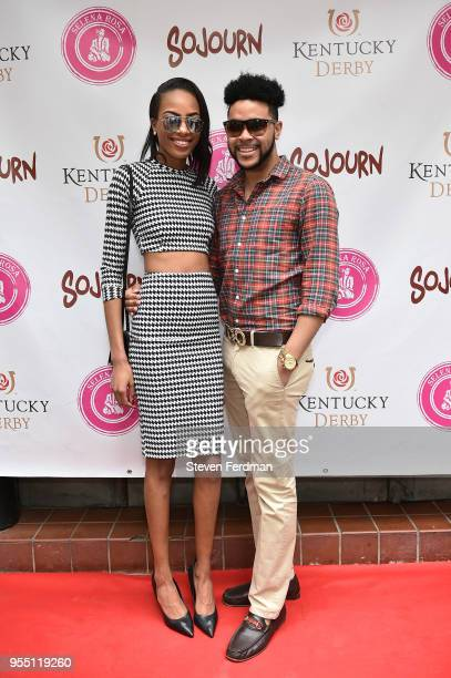 Nina Adams and Tony Bowles attend the Kentucky Derby party hosted by Jean Shafiroff at Sojourn Restaurant on May 5 2018 in New York City