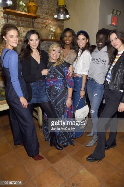 Nina Agdal Allie Rizzo Ubah Hassan Tina Marie Clark Khoudia Diop and Ruby Aldridge attend as Aerie celebrates #AerieREAL Role Models in NYC on...