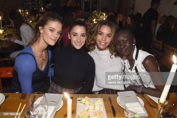 Nina Agdal Aly Raisman Cleo Wade and Alek Wek attend as Aerie celebrates #AerieREAL Role Models in NYC on January 31 2019 in New York City