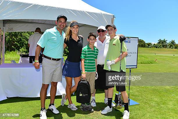 Nina Agdal and Guest attends JEEP 11th Annual Celebrity Golf Tournament during The 11th Annual Irie Weekend at Miami Beach Golf Club on June 19, 2015...