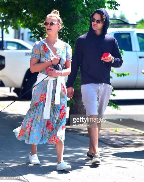 Nina Agdal and Jack Brinkley Cook are seen in the Meat Packing District on May 21 2018 in New York City